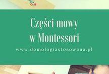 czesci mowy w Montessori