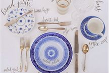 Entertaining / Table settings and other entertaining/hostessing inspiration