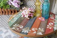 mesas de jardin decorar