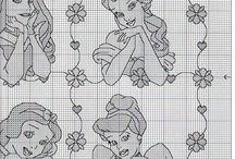 Princess disney punto croce (girl) / Punto croce schemi bambina