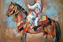 Peinture Chevaux Fantasia
