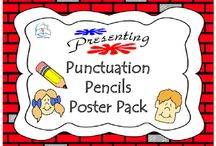 Pencil Punctuation Poster Pack / Pencil Punctuation Poster Pack. This pencil-themed punctuation poster pack is a GREAT handy reference to display in the classroom.