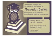 Graduation Party Invitations and Ideas / by Jennifer (DesignsByNyxxie)