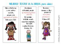 Textos de la Biblia para niños