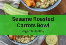 Healthy Vegan Bowls Recipes / A board full of healthy vegan bowls recipes, including buddha bowls, burrito bowls, soup, oatmeal, and ice cream recipes. Breakfast, lunch, and dinner recipes all featured!
