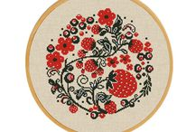 Ornamental Cross Stitch Designs / Folk art cross stitch patterns are unique offering ornamental designs of different cultures. Floral cross stitch, wreath embroidery, cross stitch folk style and much more!