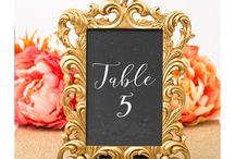 table number wedding frames