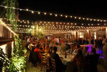 lights and music for weddings at Gargonza
