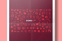 DOMODI Posters / Línea gráfica exclusiva para material de promoción