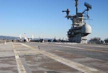 Flight Deck / Views from the flight deck of the USS Hornet.
