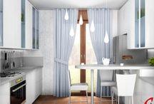 Cucina Sig.ra C. / N. 2 proposte di progetto differenti per estetica e funzionalità.