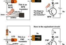 Circuits, electronics, LEDs