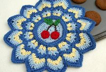 Crochet Potholder&Hot pad&Coaster