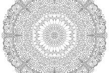 круглый орнамент мандала