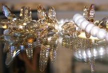 Dalia Koss Unique Jewelry / Platinum color baroque pearls with Swarovski crystals. / by Dalia Koss