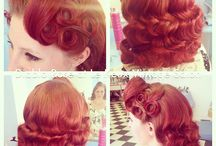 Vintage style hairdressing