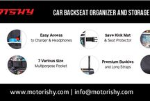 THE BACKSEAT CAR ORGANIZER BY MOTORISHY / Experience a clean, comfortable and enjoyable ride with your family and friends