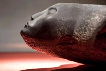 Ancient Egypt / Art of ancient Egypt - sculpture, carvings. I love Egyptian art and its African roots - the tension between energy and restraint!