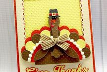 Our Favorite Thanksgiving Cards / Ideas for all kinds of Thanksgiving card. The best are the ones with the cute Turkey Time Die Set. / by Top Dog Dies