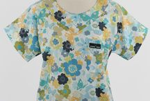 Scrub Med Scrubs - Womens Print Scrub Tops / Our quality, USA Made print scrub tops for women in a wide variety of prints.