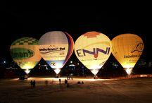 Ballonglühen / Ballonglühen und das Festival ist das Ereignis für den Ballonfahrer