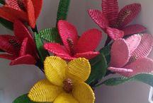 Фигурки плетеные из трубочек