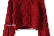 короткие вязаные свитера