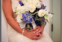"""Blue and White wedding at Greystone Mansion / Blue and white flowers for a """"Hollywood"""" Themed wedding at Greystone Mansion"""