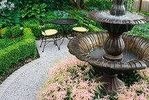 Garden Fountains / An outdoor fountain is the perfect finishing touch for your garden decor.