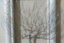 Moje stromky z drátků