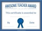 Teacher Appreciation / Free printable certificates for teacher appreciation week or for the end of the year.