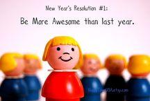 New year resolutions  / by Joy Ng