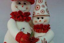 Pupazzi di neve snowmen