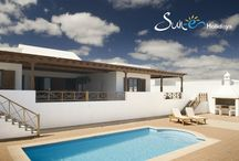 Villa Neptune #58 Puerto Calero - Lanzarote - Spain / This attractive, single storey, three bedroom villa is located in the exclusive marina of Puerto Calero. It is within a short walk of the promenade of international restaurants, bars, cafes and designer shops. The resort of Puerto del Carmen is only a five minute drive away with its picturesque Old Town and harbour and miles of golden beaches. The villa benefits from WiFi internet connection