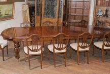 Victorian Dining Sets / Large range of Victorian dining sets - various combinations of tables in chairs in both mahogany and walnut. Victorian dining chairs and balloon back dining chairs (classic Victorian look). Many of these sets on display in our North London showroom  http://www.canonburyantiques.com/s/dining-sets/victorian-dining-sets/1/