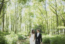 Twilight Wedding Photo Shoot / A beautiful woodland wedding at Matfen Hall. Photography by Sean Elliot Photography.
