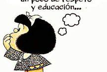 Mafalda ácida / Mafaldadas, yo pienso igual. Viva Quino.