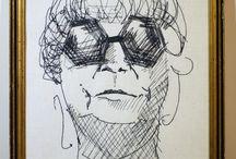 """Cykl haftowanych portretów """"Na drugim planie"""" / Zrealizowano w  ramach stypendium Ministra Kultury i Dziedzictwa Narodowego. Autorką projektu jest Karolina Grzeszczuk. O całości można przeczytać na stronie projektu: https://inthebackgroundproject.wordpress.com/"""