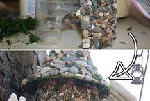 artesanias con  piedras molde plastico