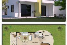 Planta de casas pequenas