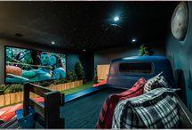 Drive in cinema in a garden