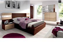 Modern Wood Dark Wenge Bedroom Collection