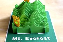 3D Paper Terrain Models / paper cut terrain model 3D mountain geo art  papercraft topography