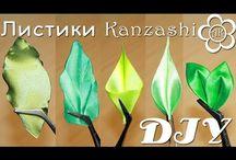 Flores, kanzashi, lazo diy