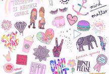 Dibujos tumblr hipsters