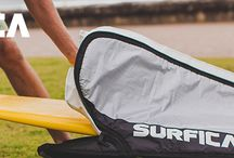 Surfboard & SUP Accessories / Board bags and Leashes for Surfboards and SUPs.