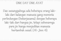 One Day One Ayat / Postingan ayat-ayat Al-Qur'an dalam terjemahan bahasa Indonesia