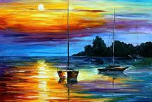 Sunset paintings