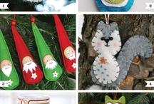 xmas felt ornaments