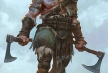 RPG - Barbarian & Berserks / RPG - Roleplaying Game Concepts of barbarians and berserks.